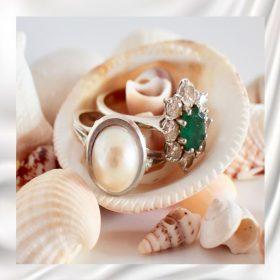 Féldrágakő ásvány gyűrűk
