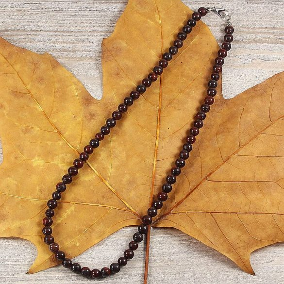 Poppyjáspis, golyós, 6 mm, 45 cm-es nyaklánc