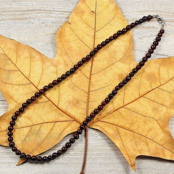 Poppyjáspis, golyós, 6 mm, 50 cm-es nyaklánc