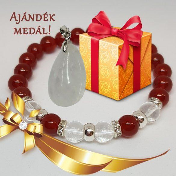 Védelmi karkötő hölgyeknek, ajándék medállal