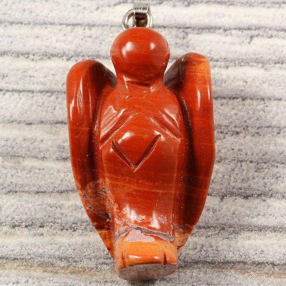 Angyalka medál, piros jáspis