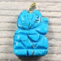 Integetős cica medál, türkinit