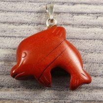 Delfin medál, piros jáspis