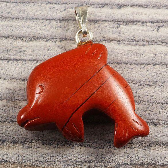 Figura, delfin, piros jáspis