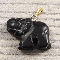 Elefánt medál, ónix