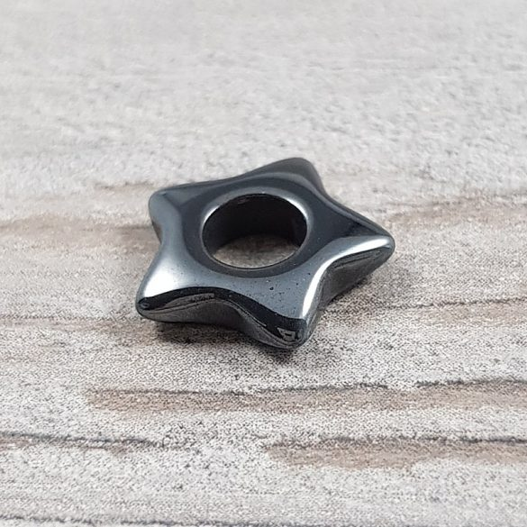 Hematit csillag, lukas, 15 mm