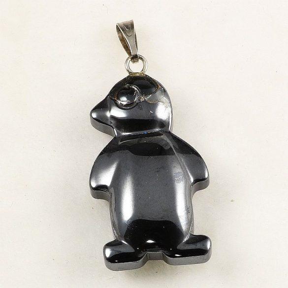 Hematit pingvin medál