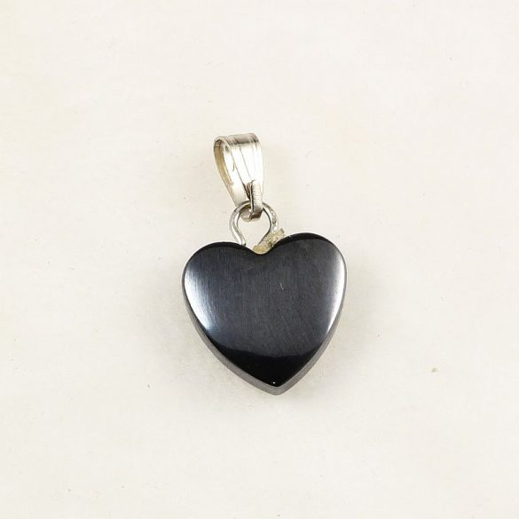 Hematit szív, 10 mm