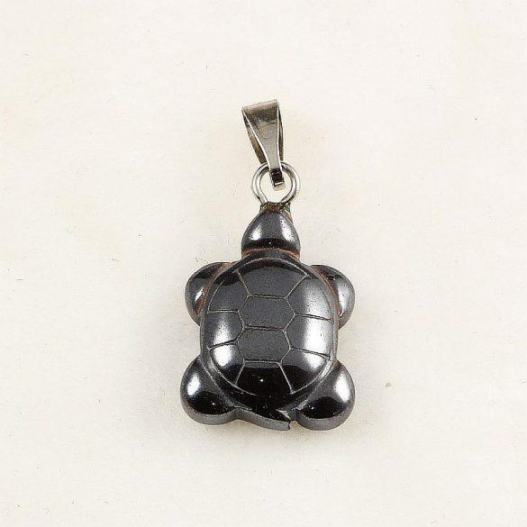 Hematit teknős medál, kicsi