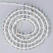 Hegyikristály alapanyagszál, golyós, 4 mm, kb. 38 cm