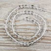 Hegyikristály alapanyagszál, golyós, 6 mm, kb. 38 cm
