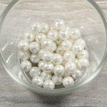 Shell Pearl fazettált golyós fehér, 8 mm