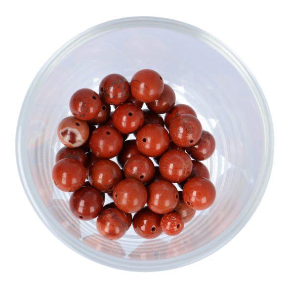 Piros jáspis golyó, 10 mm