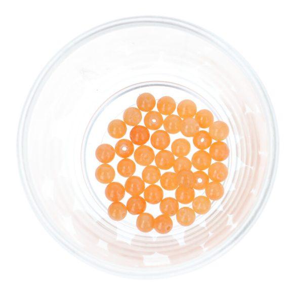 Festett jáde golyó, narancssárga, 6 mm