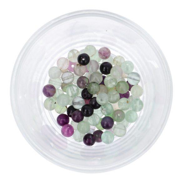 Fluorit vegyes színű golyó, 6 mm