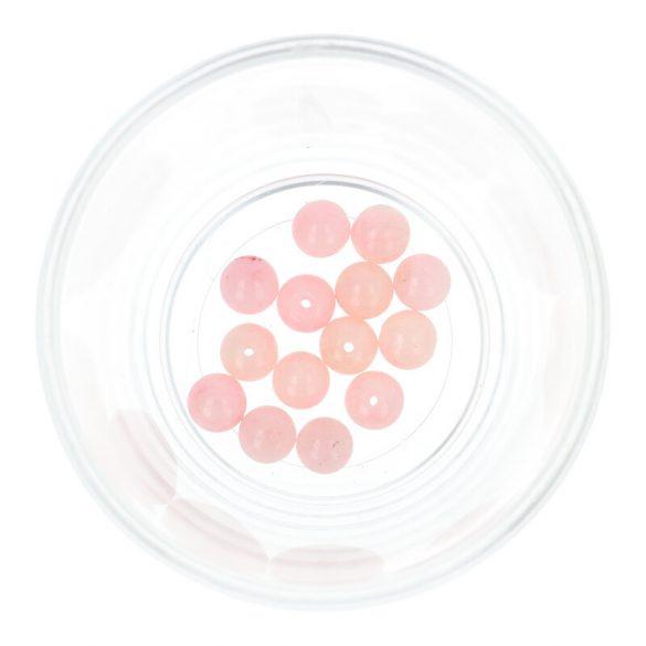Festett jáde golyó, rózsaszín, 8 mm