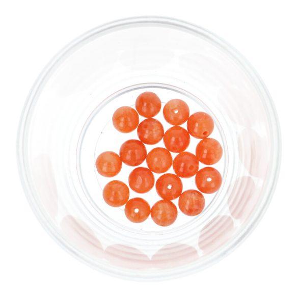 Festett jáde golyó, narancssárga, 8 mm