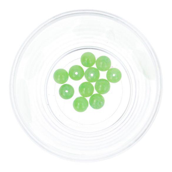 Festett jáde golyó, zöld, 8 mm