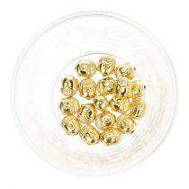 Hematit buddhafej, arany, kb. 10 mm