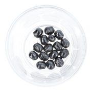 Hematit buddhafej, fekete, kb. 10 mm