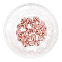 Hematit buddhafej, rosegold, kb. 10 mm