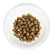 Hematit golyó, arany, 6 mm