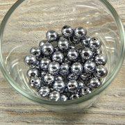 Hematit golyó, ezüst, 8 mm