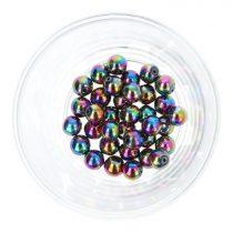 Hematit golyó, színes, 8 mm