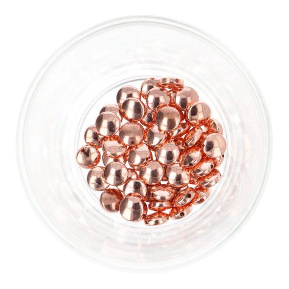 Hematit, kerek, lapos, rosegold, 8x4 mm