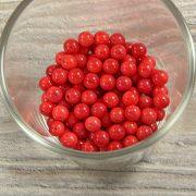 Bambuszkorall golyó, 6 mm, piros