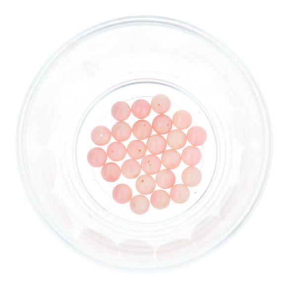 Bambuszkorall golyó, 6 mm, rózsaszín
