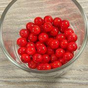 Bambuszkorall golyó, 8 mm, piros