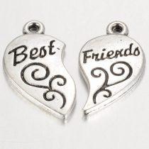 Best Friends medál, indás, párban (5 db)
