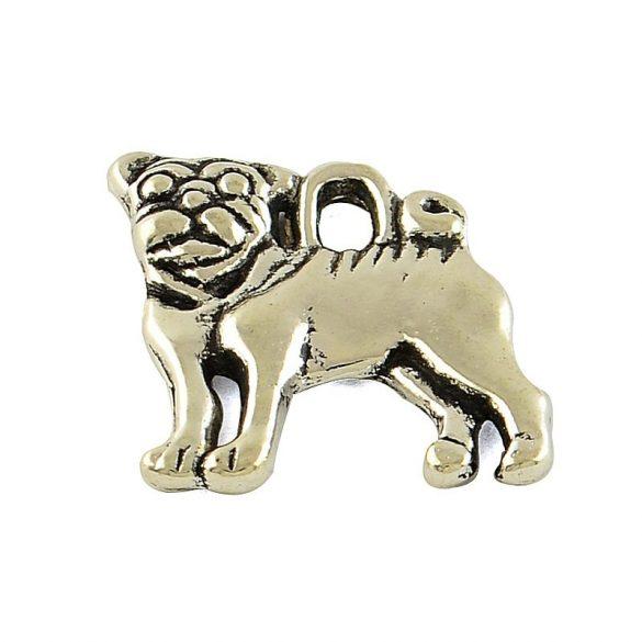 Kutya, bulldog, oldal nézetből, kb. 16x15 mm (5 db)