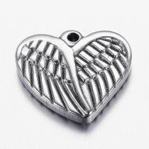Nemesacél, angyalszárnyas szív (1 db)