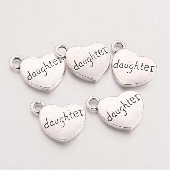 Szív, Daughter felírattal (5 db)