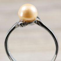 Tenyésztett gyöngyös gyűrű (1), rózsaszín