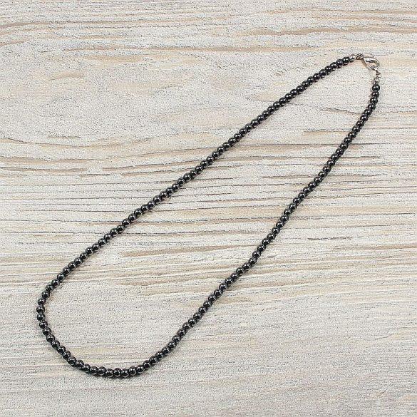 Hematit, golyós, 4 mm, 45 cm-es nyaklánc