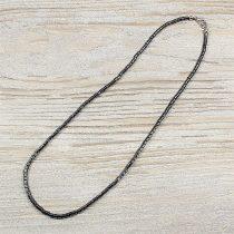 Hematit, hengeres, 3 mm, 45 cm-es nyaklánc