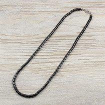 Hematit, hengeres, 5 mm, 45 cm-es nyaklánc