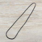 Hematit, hengeres, 3 mm, 40 cm-es nyaklánc