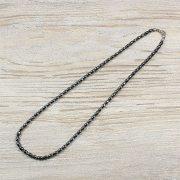 Hematit, rizsszem, 4x6 mm, 40 cm-es nyaklánc
