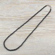 Hematit, golyós, 4 mm, 50 cm-es nyaklánc