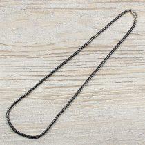 Hematit, hengeres, 3 mm, 50 cm-es nyaklánc