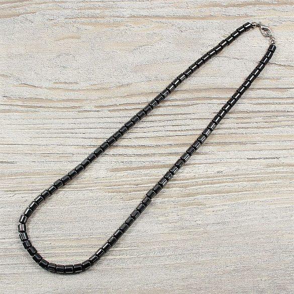 Hematit, hengeres, 5 mm, 50 cm-es nyaklánc