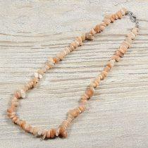 Holdkő, barna, törmelékköves, 40 cm-es nyaklánc