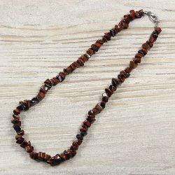 Mahagóni obszidián, törmelékköves, 40 cm-es nyaklánc