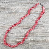 Bambuszkorall, törmelékköves, rózsaszín, 50 cm-es nyaklánc