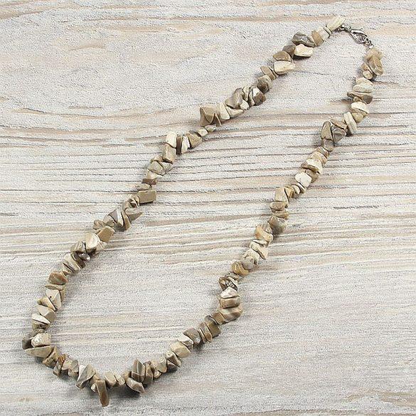 Flint (tűzkő), törmelékköves, 50 cm-es nyaklánc