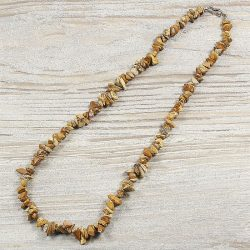 Képjáspis, törmelékköves, 50 cm-es nyaklánc